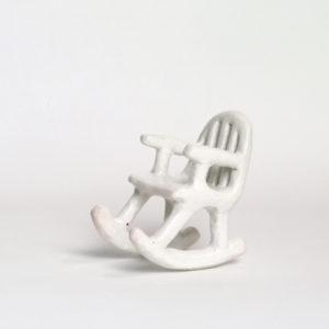 (41) White rocking chair