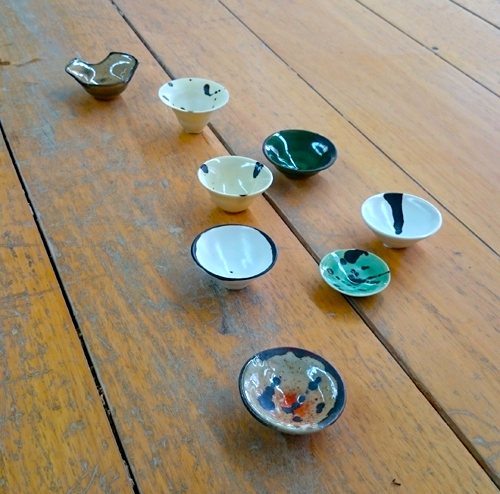 Glaze Samples by our student - Hiroyuki Uemura